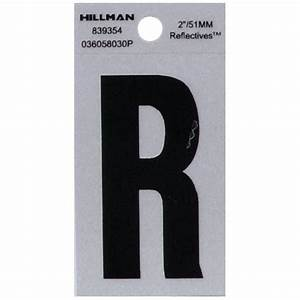 the hillman group 2 in vinyl reflective letter r 839354 With house letter b