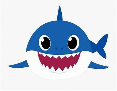 Shark Clipart Daddy Background Mama Transparent Azul