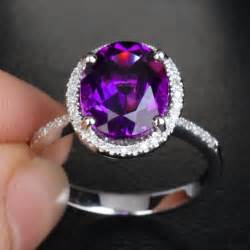 engagement rings with purple diamonds this is so stunning omg purple amethyst pave 14k white gold halo engagement ring