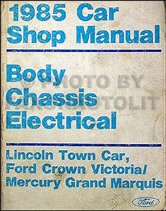 1985 Ford Crown Victoria  U0026 Mercury Grand Marquis Foldout Electrical Wiring Diagram