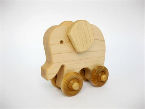 wooden toys wooden toy elephant push toy natural wood toy