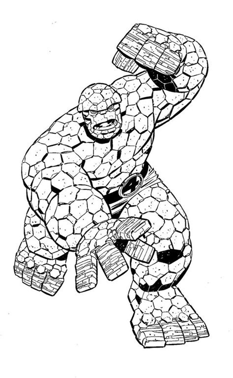 coloring pages ben grimm  printable  kids