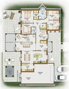 Luxus Bungalow Bauen : die besten 25 ideen zu grundriss bungalow auf pinterest ~ Lizthompson.info Haus und Dekorationen