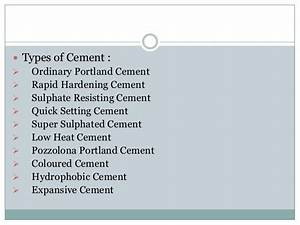 Ordinary portland cement (opc) & Rapid hardening cement