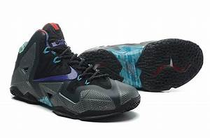 Real Lebron James 11 Black Blue For Cheap