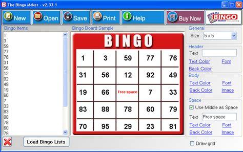 Download Bingo Card Printing Software Bingo Card, Bingo