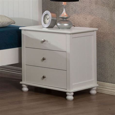 Wide White Nightstand by Stand White 3 Drawer Nightstand Furniture