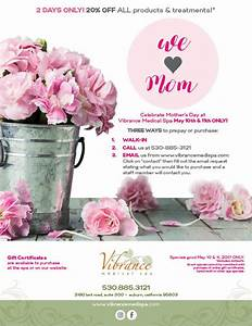 Mother's Day Special |Auburn CA | Vibrance Medical Spa