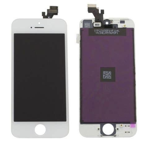 ecran lcd complet iphone 5 blanc original lapommediscount