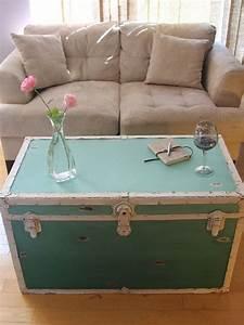 16 old trunks turned coffee tables that bring extra With blue trunk coffee table