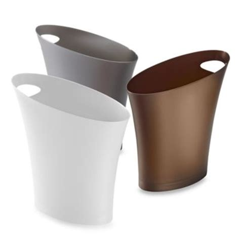 Slim Bathroom Trash Can With Lid by Buy Slim Trash Can From Bed Bath Beyond