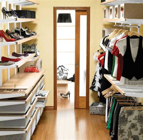 small walk in closet ideas with shoe shelving home