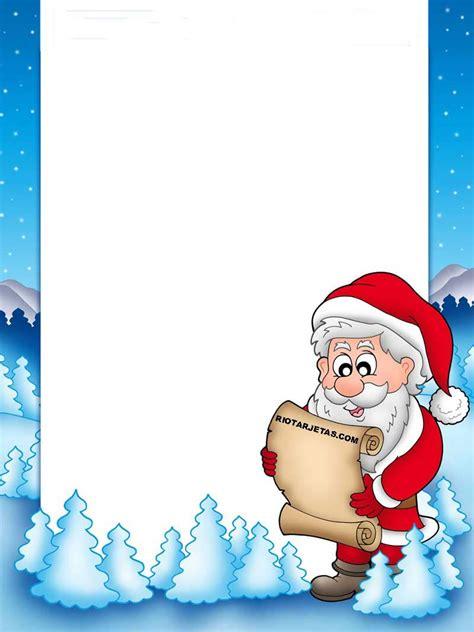 cartas de navidad de santa claus  imprimir gratis rio
