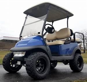 48v Lifted Electric Golf Cart Club Car Precedent Blue Mud