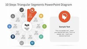 Powerpoint 10 Steps Diagram Circular Design