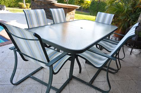 patio furniture table and 6 chairs the hull