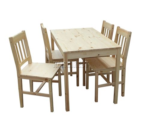 solid wood kitchen table and chairs foxhunter quality solid wooden dining table and 4 chairs