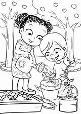 Coloring Pages Garden Gardening Colouring Sheets Nature Drawing Gardens Colorful Messy Play Worksheets Visit Bulkcolor Bulk sketch template