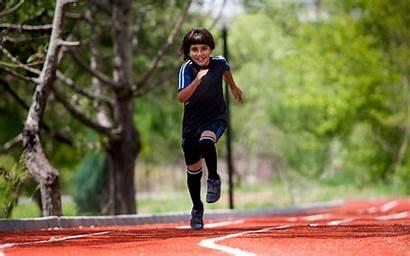 Running Kid Sprint Track