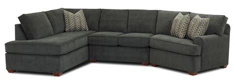 klaussner hybrid sectional sofa  left facing sofa