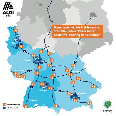 Ladestationen Fuer Elektroautos Interaktive Karte by Aldi S 220 D Baut Elektroauto Ladenetz Aus Karte Ecomento De