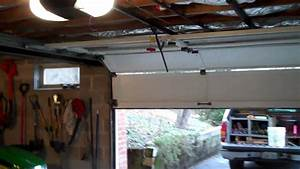 Garage Opener With Tricked Hinges For A 6 5 U0026 39   Cut Down  Door