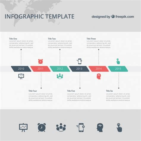 timeline infographic template vector free