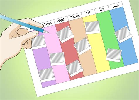 How to Make a Weekly Calendar for Kids (Visual): 6 Steps