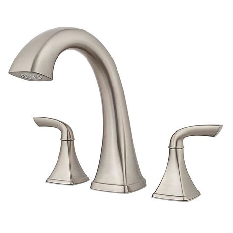 Pfister Tub Faucet by Pfister Bronson Brushed Nickel 2 Handle Deck Mount