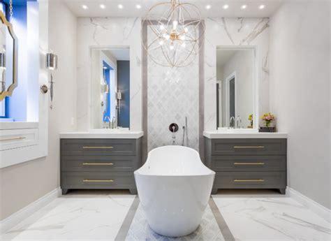 Bathroom Fixtures Houston Tx by Master Bathroom Renovation Gold Gray Cobalt