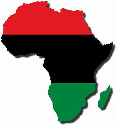 Africa Flag Map African Pan South Colors