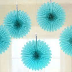 cheap wedding program 5 turquoise tissue paper fan decorations pipii