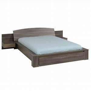 Lit Adulte Tiroir : lit adulte avec tiroir gaby 140x190cm r glisse ~ Teatrodelosmanantiales.com Idées de Décoration