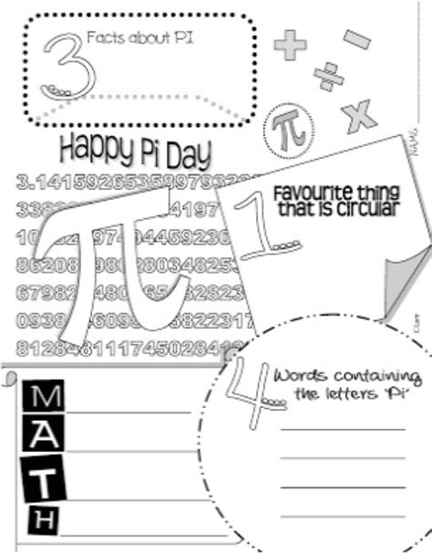 gallery for gt pi day worksheets