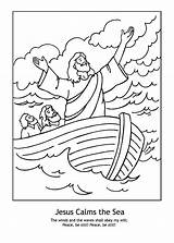 Jesus Storm Coloring Calms Pages Bible Stormfly Sheets Sea Sunday Printable Colouring Preschool Crafts Children Clipart Craft Heals Story Sick sketch template