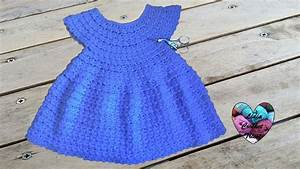 robe toutes tailles crochet facile 1 2 dress crochet With robe de baptême pour bébé