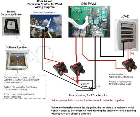 Solar Charge Controller Wiring Diagram by Coleman Air 65a 12 24v Wind Solar Solid State Pwm Charge
