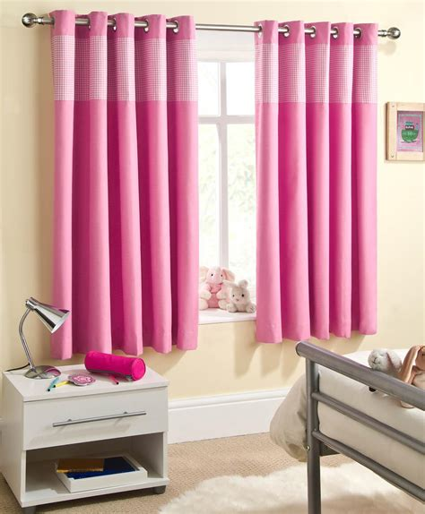 Pink Curtains sweetheart children s thermal blackout eyelet curtains