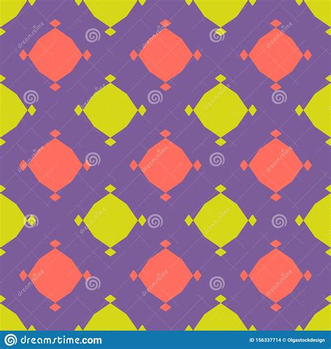 Vector Colorful Geometric Seamless Pattern Simple