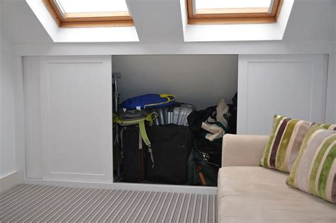 Loft Bedroom Access by Loft Eaves Storage Solution Cupboard Doors Diy