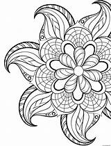 Coloring Flowers Spring Mandala Printable sketch template