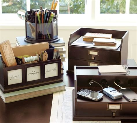 Pottery Barn Office Desk Accessories bedford desk accessories traditional desk accessories