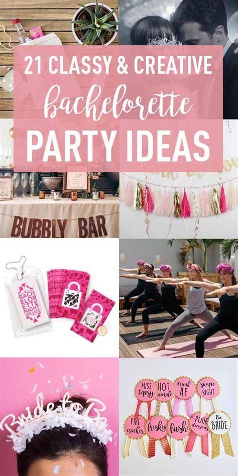 creative bachelorette party ideas  bride