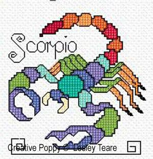 lesley teare designs zodiac signs cross stitch pattern