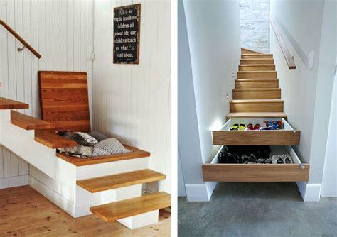 rangement chaussures dans escalier