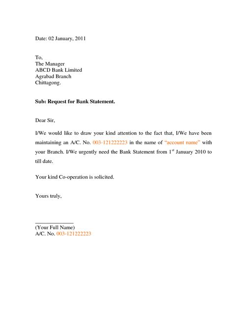 request letter to bank for company account opening money