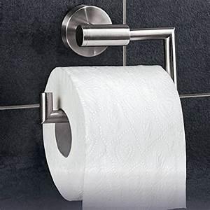 Klorollenhalter Edelstahl Matt : toilettenpapierhalter zum kleben wc garnitur zum kleben toilettenpapierhalter ~ Frokenaadalensverden.com Haus und Dekorationen
