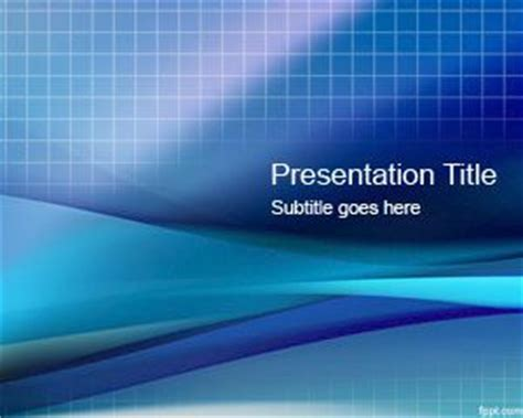 blue grid powerpoint template  template