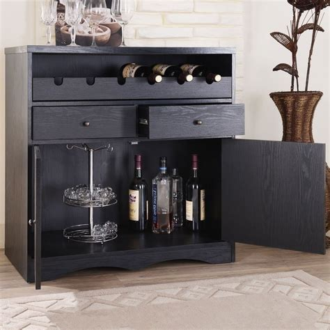 wine and liquor cabinet new bar storage folding server wine rack wooden liquor