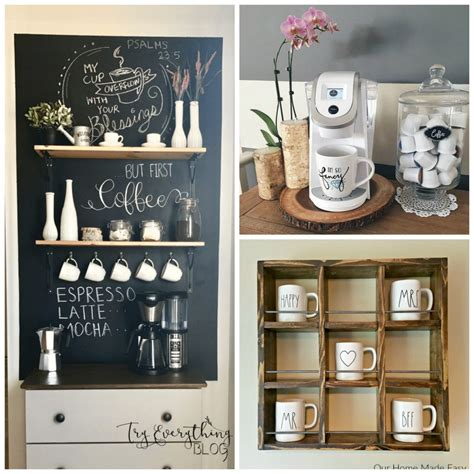 Wine & coffee sign ideas. 10 Adorable DIY Coffee Bars for Your Morning Fix